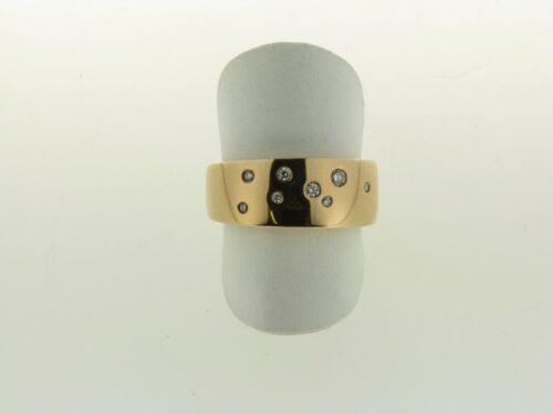 14 karaat rosegouden ring met hoge korting