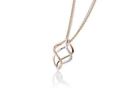 Gouden collier met diamant