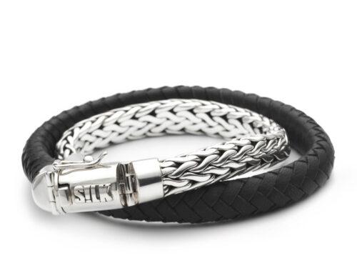 Silk armband 350 Shiva black