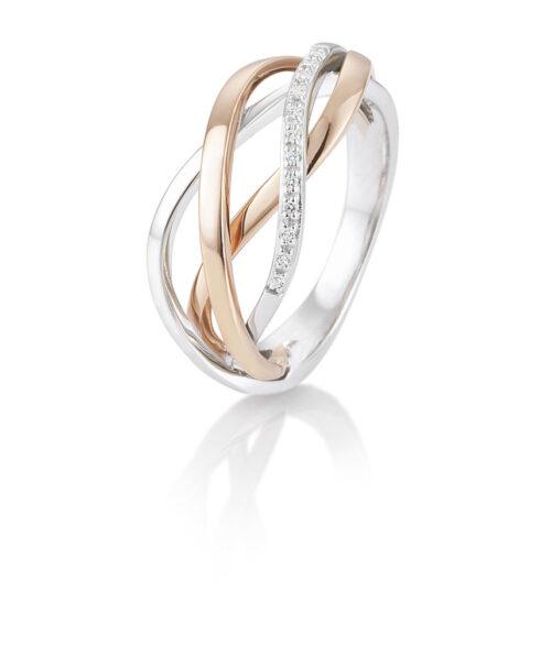 14 karaat gouden ring met diamant