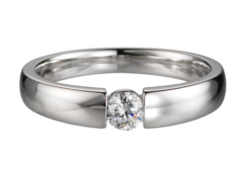 14 karaat gouden verlovingsring met 0.15ct diamant