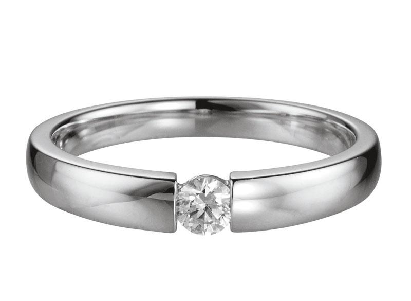 14 karaat gouden aanzoeksring met 0.10ct diamant