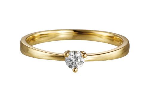 Gouden aanzoeksring met 0.10ct diamant