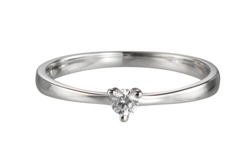 Gouden verlovingsring met 0.05ct diamant