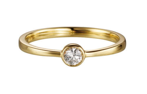 14 karaat gouden verlovingsring met 0.10ct diamant