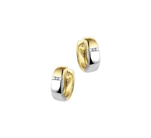 gouden klapcreolen met diamant
