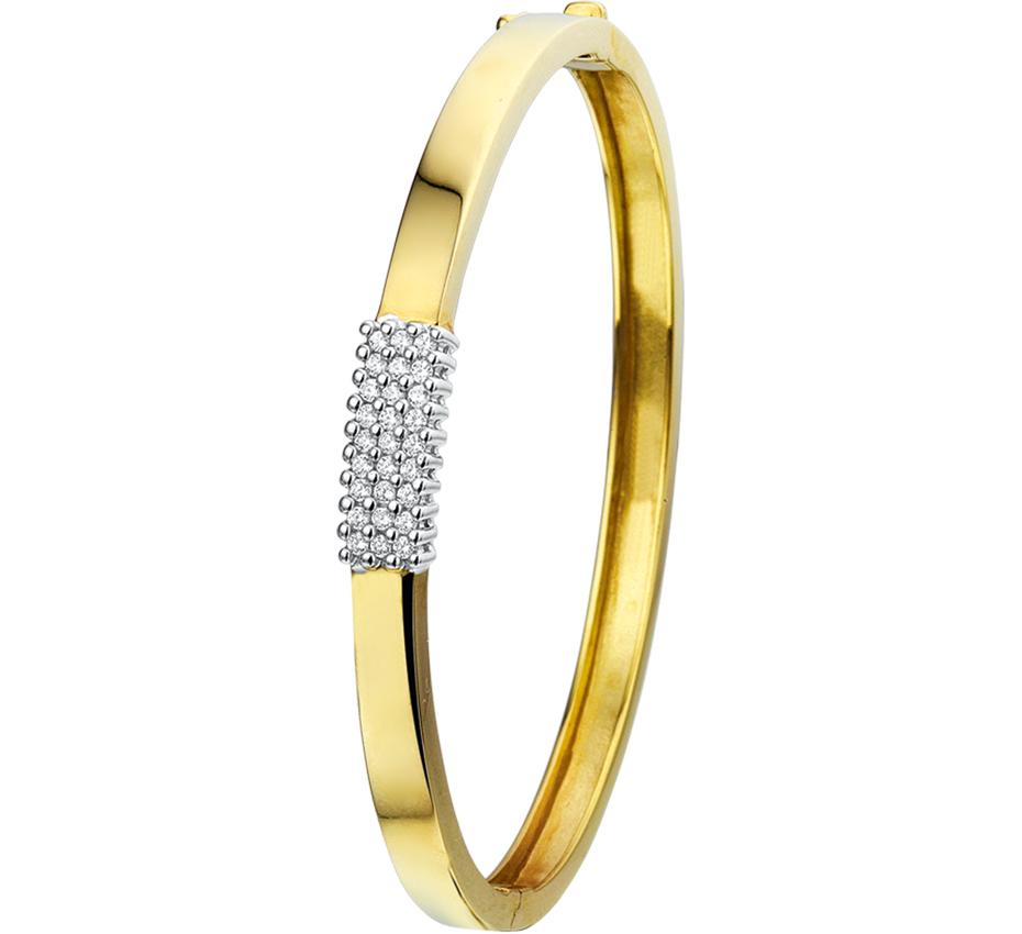 Gouden slavenband met diamant