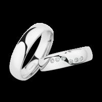 Christian Bauer trouwringen met diamant