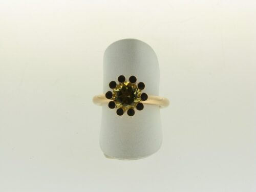 Aanbieding rosegouden Bron ring Sprite