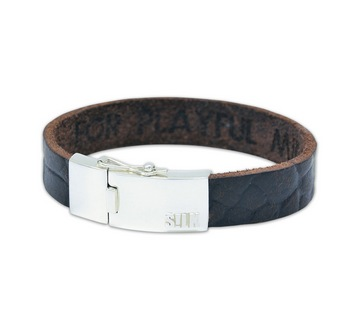 Silk armband 806 Leather