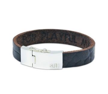Silk armband 806 Leather