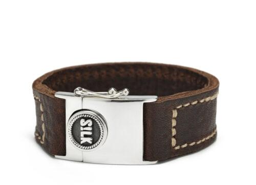 Silk armband 839 Leather