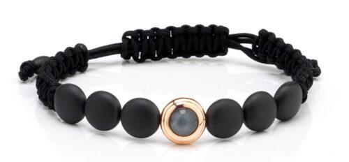 Gouden armband met zwart keramiek