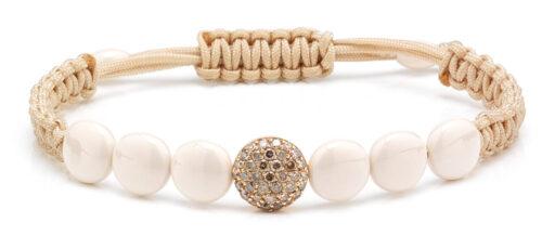 Orotech armband met keramiek en diamant