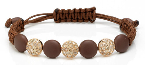 Orotech armband gezet met bruin diamant