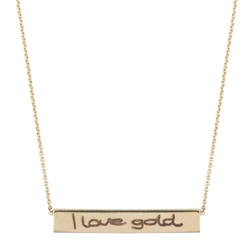 Just Franky gouden collier uit de Bar collection