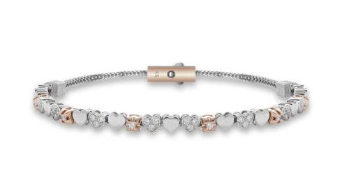 DonnaOro armband met rosegoud en diamant