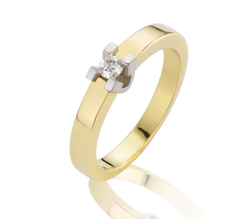 14 karaat gouden Diamond ring