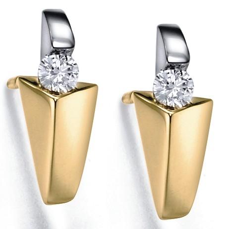 Top aanbieding 14 karaat gouden oorknoppen met diamant