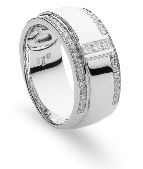 Witgouden ring met briljant