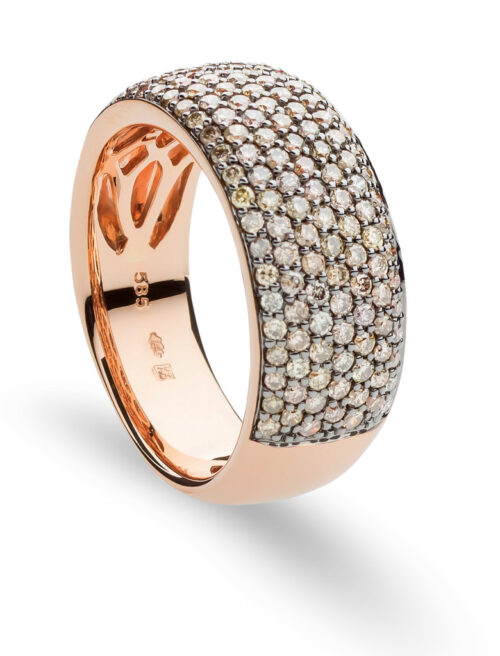 Gouden ring met bruin diamant
