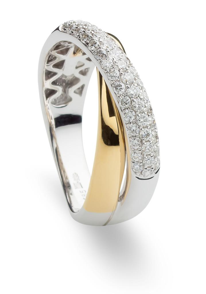 Gouden ring met briljant