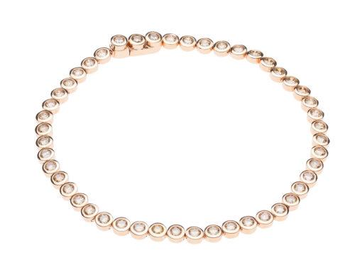 Gouden armband met bruin diamant
