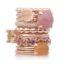 Rosegouden Bron ringen met kleurstenen