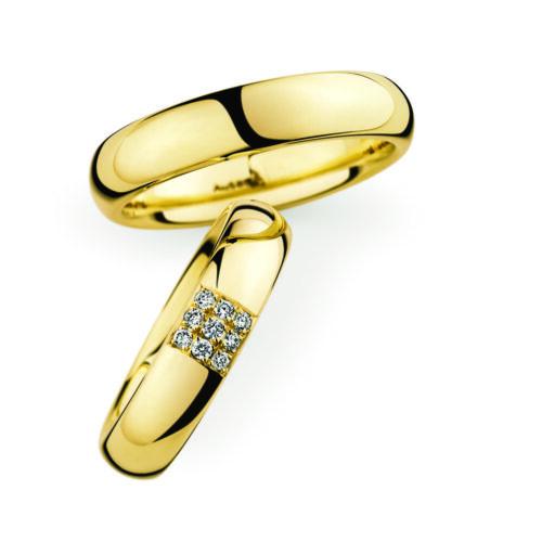 Geelgouden trouwringen van Christian Bauer