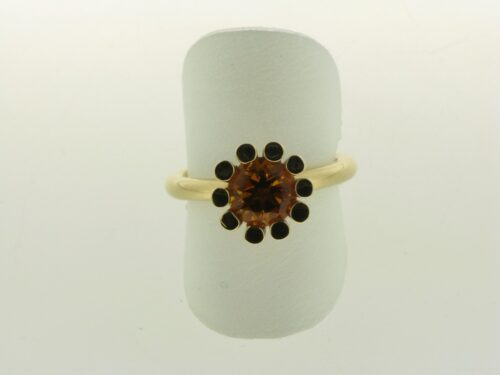 Aanbieding gouden Bron ring