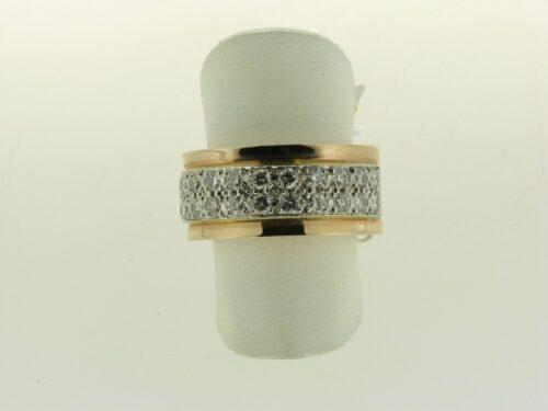 Top aanbieding 14 karaat rosegouden ring met diamant