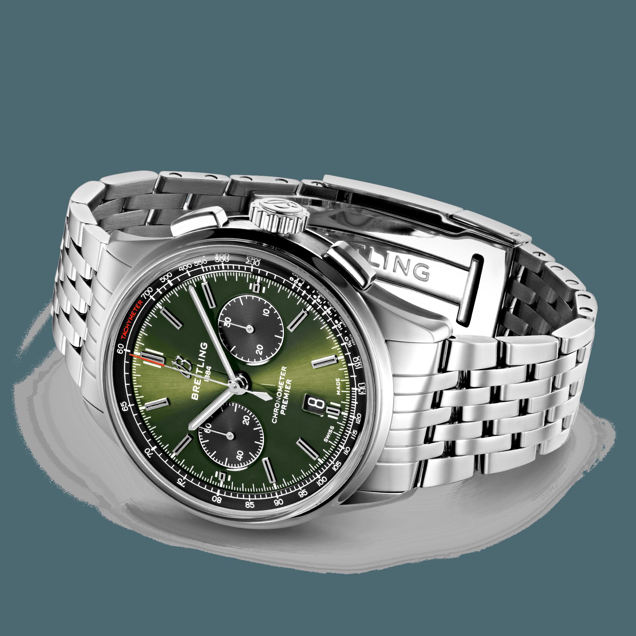 AB0118A11L1A1 Breitling Premier B01 Chronograph 42 Bentley British Racing Green